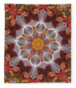 Liquidamber And Feathers Fleece Blanket