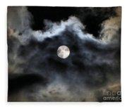 Lisas Wildlife Moons 2 Fleece Blanket