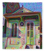 Little House On Bourbon Street Fleece Blanket