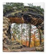 Little Pravcice Gate - Famous Natural Sandstone Arch Fleece Blanket