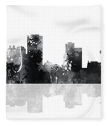Little Rock Arkansas Skyline Fleece Blanket