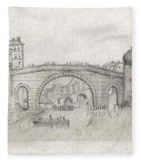 Liverpool Bridge Fleece Blanket
