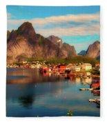 Lofoten, Norway Fleece Blanket