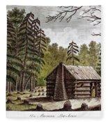 Log Cabin, 1826 Fleece Blanket