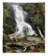 Log Hollow Falls North Carolina Fleece Blanket