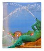 Logan Circle Fountain 1 Fleece Blanket