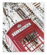London Telephone 3b Fleece Blanket