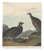 Long-tailed Or Dusky Grous Fleece Blanket
