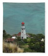 Looking Down At The Lighthouse Fleece Blanket