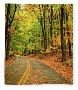 Lost In Pennsylvania - Paint Fleece Blanket