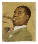 Louis Armstrong, Music Legend Fleece Blanket