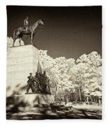 Louisiana Monument At Gettysburg Fleece Blanket