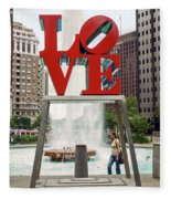 Love Sculpture Fleece Blanket