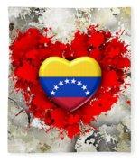 Love Venezuela Fleece Blanket
