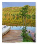 Lovely Lake Fleece Blanket