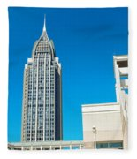 Low Angle View Of Buildings, Mobile Fleece Blanket