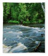 Lower Tahquamenon Falls Fleece Blanket