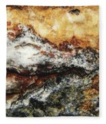 Macro Rock Fleece Blanket