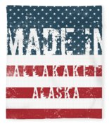 Made In Allakaket, Alaska Fleece Blanket