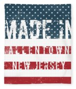 Made In Allentown, New Jersey Fleece Blanket