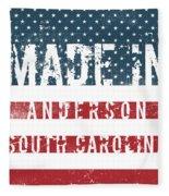 Made In Anderson, South Carolina Fleece Blanket