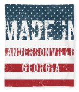 Made In Andersonville, Georgia Fleece Blanket