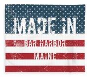Made In Bar Harbor, Maine Fleece Blanket