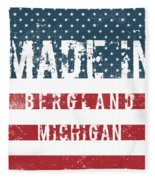 Made In Bergland, Michigan Fleece Blanket
