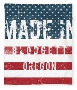 Made In Blodgett, Oregon Fleece Blanket