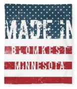 Made In Blomkest, Minnesota Fleece Blanket