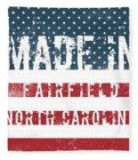 Made In Fairfield, North Carolina Fleece Blanket