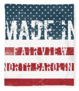 Made In Fairview, North Carolina Fleece Blanket