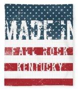 Made In Fall Rock, Kentucky Fleece Blanket
