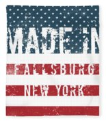 Made In Fallsburg, New York Fleece Blanket