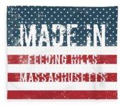 Made In Feeding Hills, Massachusetts Fleece Blanket