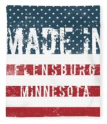 Made In Flensburg, Minnesota Fleece Blanket
