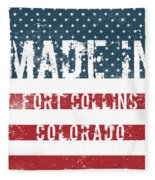 Made In Fort Collins, Colorado Fleece Blanket