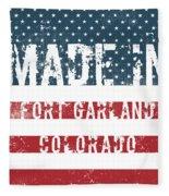 Made In Fort Garland, Colorado Fleece Blanket