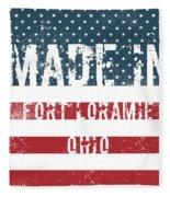 Made In Fort Loramie, Ohio Fleece Blanket