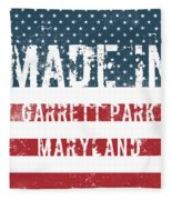 Made In Garrett Park, Maryland Fleece Blanket