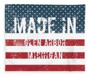 Made In Glen Arbor, Michigan Fleece Blanket