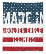 Made In Golden Eagle, Illinois Fleece Blanket