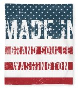 Made In Grand Coulee, Washington Fleece Blanket