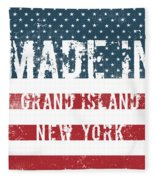 Made In Grand Island, New York Fleece Blanket
