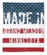 Made In Grand Meadow, Minnesota Fleece Blanket