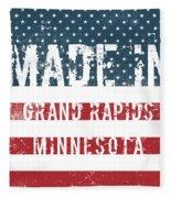 Made In Grand Rapids, Minnesota Fleece Blanket