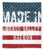 Made In Grass Valley, Oregon Fleece Blanket