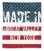 Made In Great Valley, New York Fleece Blanket