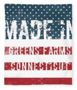 Made In Greens Farms, Connecticut Fleece Blanket