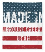 Made In Grouse Creek, Utah Fleece Blanket